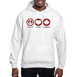 Peace love Canada Hooded Sweatshirt