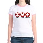 Peace love Canada Jr. Ringer T-Shirt