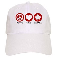 Peace love Canada Baseball Cap