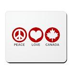 Peace love Canada Mousepad