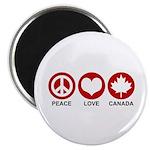 Peace love Canada Magnet