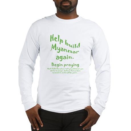 Pray for Myanmar Long Sleeve T-Shirt