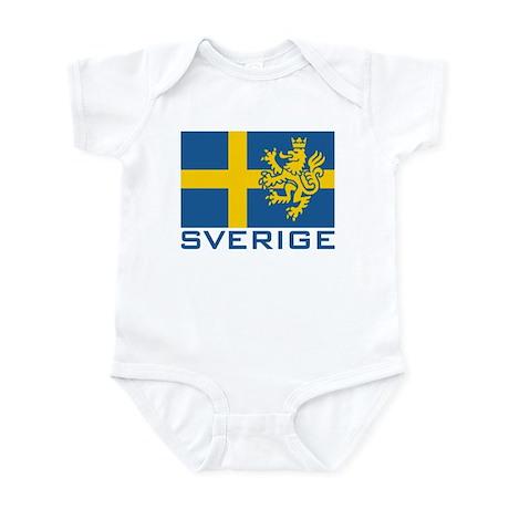 Sverige Flag Infant Bodysuit