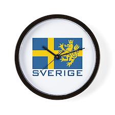 Sverige Flag Wall Clock