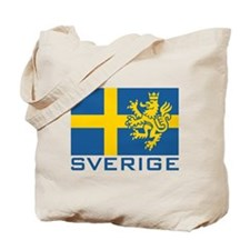 Sverige Flag Tote Bag