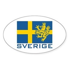 Sverige Flag Oval Decal