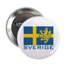 "Sverige Flag 2.25"" Button"