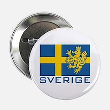 """Sverige Flag 2.25"""" Button"""