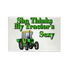She Thinks My Tractors Sexy Rectangle Magnet (10 p