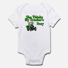 She Thinks My Tractors Sexy Infant Bodysuit