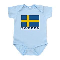 Sweden Flag Infant Bodysuit