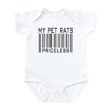 My Pet Rats Priceless Infant Bodysuit