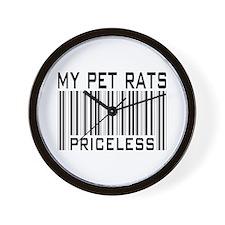 My Pet Rats Priceless Wall Clock