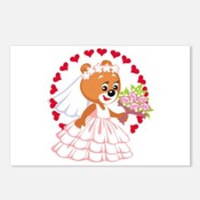 Teddy Bear Bride Postcards (Package of 8)