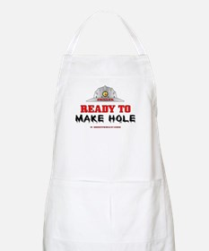 Driller Ready to Make Hole BBQ Apron
