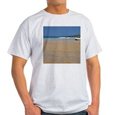 The Beach, Fistral Bay Ash Grey T-Shirt