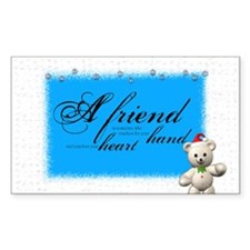 a friend christmas Rectangle Decal