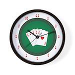 Poker Table Wall Clock