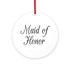 """""""Maid of Honor"""" Keepsake (Round)"""