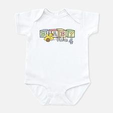 Baby Makes 4 Infant Bodysuit