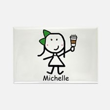 Coffee - Michelle Rectangle Magnet