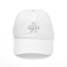 White Hope Ribbon Baseball Cap