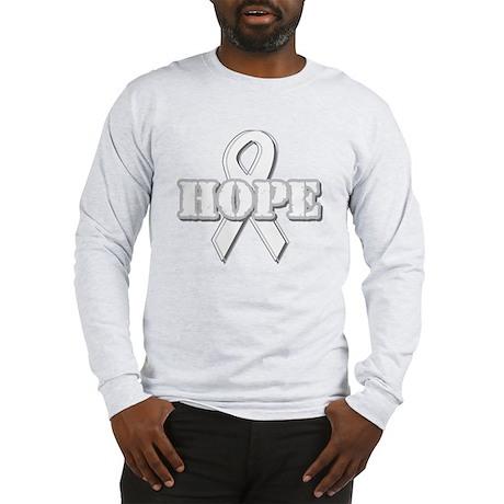 White Hope Ribbon Long Sleeve T-Shirt