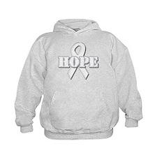White Hope Ribbon Hoodie
