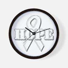 White Hope Ribbon Wall Clock
