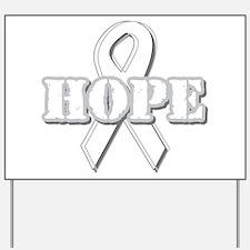 White Hope Ribbon Yard Sign