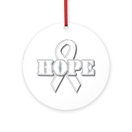 White Hope Ribbon Ornament (Round)