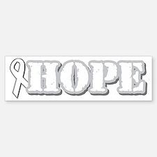 White Hope Ribbon Bumper Bumper Bumper Sticker