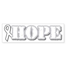 White Hope Ribbon Bumper Bumper Sticker