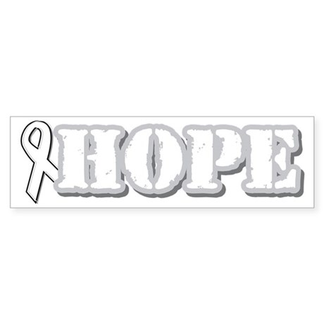 White Hope Ribbon Bumper Sticker