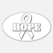 White Hope Ribbon Oval Decal