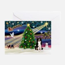 XmasSigns/2 Border Collies Greeting Cards (Pk of 2