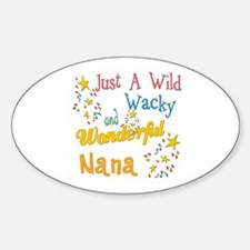 Wild Wacky Nana Oval Decal
