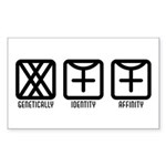 FemaleFemale to Female Rectangle Sticker 50 pk)