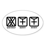 FemaleFemale to Female Oval Sticker (10 pk)