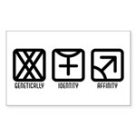 FemaleFemale to Male Rectangle Sticker 50 pk)