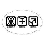 FemaleFemale to Male Oval Sticker (10 pk)