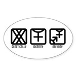 FemaleFemale to Both Oval Sticker (10 pk)
