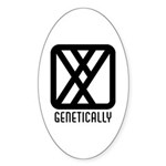 Genetically : Male Oval Sticker (10 pk)