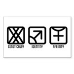 FemaleMale to Female Rectangle Sticker 50 pk)