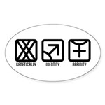 FemaleMale to Female Oval Sticker (10 pk)