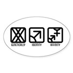 FemaleMale to Both Oval Sticker (10 pk)