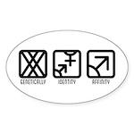 FemaleBoth to Male Oval Sticker (10 pk)