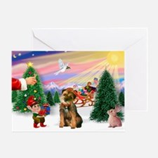 Santa's Border Terrier Greeting Card
