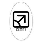Identity : Male Oval Sticker (50 pk)