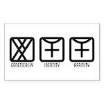 MaleFemale to Female Rectangle Sticker 50 pk)